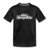 New Hampshire Toddler T-Shirt - Hand Lettered New Hampshire Toddler Tee - charcoal gray