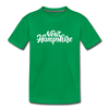 New Hampshire Toddler T-Shirt - Hand Lettered New Hampshire Toddler Tee - kelly green