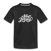 New Jersey Toddler T-Shirt - Hand Lettered New Jersey Toddler Tee - black