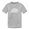 New Jersey Toddler T-Shirt - Hand Lettered New Jersey Toddler Tee - heather gray