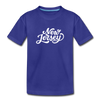 New Jersey Toddler T-Shirt - Hand Lettered New Jersey Toddler Tee - royal blue