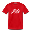 New Jersey Toddler T-Shirt - Hand Lettered New Jersey Toddler Tee - red