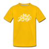 New Jersey Toddler T-Shirt - Hand Lettered New Jersey Toddler Tee - sun yellow