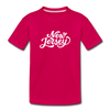 New Jersey Toddler T-Shirt - Hand Lettered New Jersey Toddler Tee - dark pink