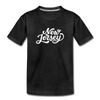 New Jersey Toddler T-Shirt - Hand Lettered New Jersey Toddler Tee - charcoal gray