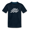 New Jersey Toddler T-Shirt - Hand Lettered New Jersey Toddler Tee - deep navy