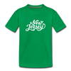 New Jersey Toddler T-Shirt - Hand Lettered New Jersey Toddler Tee - kelly green