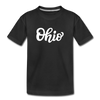 Ohio Toddler T-Shirt - Hand Lettered Ohio Toddler Tee - black