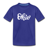 Ohio Toddler T-Shirt - Hand Lettered Ohio Toddler Tee - royal blue