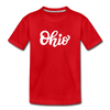 Ohio Toddler T-Shirt - Hand Lettered Ohio Toddler Tee - red