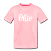 Ohio Toddler T-Shirt - Hand Lettered Ohio Toddler Tee - pink