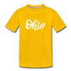 Ohio Toddler T-Shirt - Hand Lettered Ohio Toddler Tee - sun yellow
