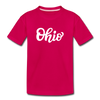 Ohio Toddler T-Shirt - Hand Lettered Ohio Toddler Tee - dark pink