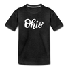 Ohio Toddler T-Shirt - Hand Lettered Ohio Toddler Tee - charcoal gray