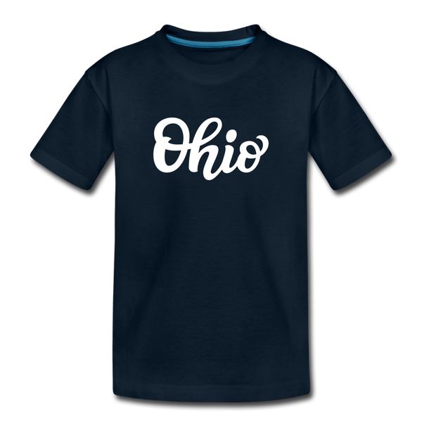 Ohio Toddler T-Shirt - Hand Lettered Ohio Toddler Tee - deep navy