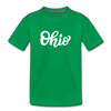 Ohio Toddler T-Shirt - Hand Lettered Ohio Toddler Tee - kelly green