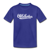 Oklahoma Toddler T-Shirt - Hand Lettered Oklahoma Toddler Tee - royal blue