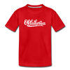 Oklahoma Toddler T-Shirt - Hand Lettered Oklahoma Toddler Tee - red