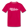 Oklahoma Toddler T-Shirt - Hand Lettered Oklahoma Toddler Tee - dark pink
