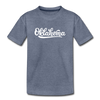Oklahoma Toddler T-Shirt - Hand Lettered Oklahoma Toddler Tee - heather blue