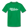 Oklahoma Toddler T-Shirt - Hand Lettered Oklahoma Toddler Tee - kelly green