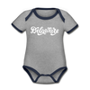Delaware Baby Bodysuit - Organic Hand Lettered Delaware Baby Bodysuit - heather gray/navy