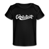 Connecticut Baby T-Shirt - Organic Hand Lettered Connecticut Infant T-Shirt - black