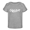 Connecticut Baby T-Shirt - Organic Hand Lettered Connecticut Infant T-Shirt - heather gray