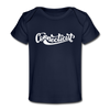 Connecticut Baby T-Shirt - Organic Hand Lettered Connecticut Infant T-Shirt - dark navy