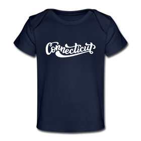 Connecticut Baby T-Shirt - Organic Hand Lettered Connecticut Infant T-Shirt