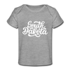 South Dakota Baby T-Shirt - Organic Hand Lettered South Dakota Infant T-Shirt