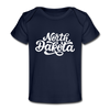 North Dakota Baby T-Shirt - Organic Hand Lettered North Dakota Infant T-Shirt