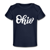 Ohio Baby T-Shirt - Organic Hand Lettered Ohio Infant T-Shirt