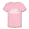 South Carolina Baby T-Shirt - Organic Hand Lettered South Carolina Infant T-Shirt - light pink