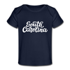 South Carolina Baby T-Shirt - Organic Hand Lettered South Carolina Infant T-Shirt