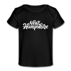 New Hampshire Baby T-Shirt - Organic Hand Lettered New Hampshire Infant T-Shirt - black