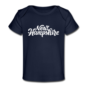 New Hampshire Baby T-Shirt - Organic Hand Lettered New Hampshire Infant T-Shirt