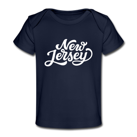 New Jersey Baby T-Shirt - Organic Hand Lettered New Jersey Infant T-Shirt