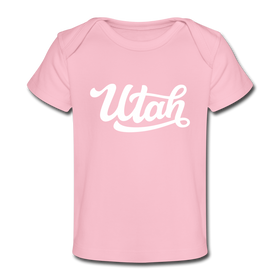 Utah Baby T-Shirt - Organic Hand Lettered Utah Infant T-Shirt