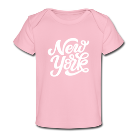 New York Baby T-Shirt - Organic Hand Lettered New York Infant T-Shirt