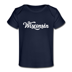 Wisconsin Baby T-Shirt - Organic Hand Lettered Wisconsin Infant T-Shirt