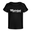 Mississippi Baby T-Shirt - Organic Hand Lettered Mississippi Infant T-Shirt - black