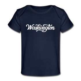 Washington Baby T-Shirt - Organic Hand Lettered Washington Infant T-Shirt
