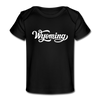Wyoming Baby T-Shirt - Organic Hand Lettered Wyoming Infant T-Shirt - black