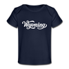 Wyoming Baby T-Shirt - Organic Hand Lettered Wyoming Infant T-Shirt