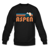 Aspen, Colorado Sweatshirt - Retro Mountain Aspen Crewneck Sweatshirt - black