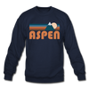 Aspen, Colorado Sweatshirt - Retro Mountain Aspen Crewneck Sweatshirt - navy