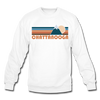 Chattanooga, Tennessee Sweatshirt - Retro Mountain Chattanooga Crewneck Sweatshirt - white