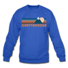Chattanooga, Tennessee Sweatshirt - Retro Mountain Chattanooga Crewneck Sweatshirt - royal blue