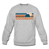 Colorado Sweatshirt - Retro Mountain Colorado Crewneck Sweatshirt - heather gray